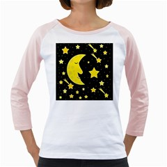 Sleeping Moon Girly Raglans by Valentinaart