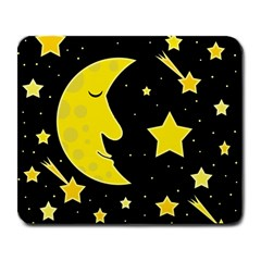 Sleeping Moon Large Mousepads by Valentinaart