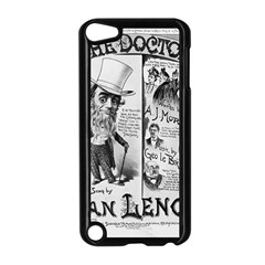 Vintage Song Sheet Lyrics Black White Typography Apple Ipod Touch 5 Case (black) by yoursparklingshop