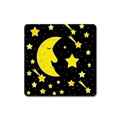 Sleeping Moon Square Magnet