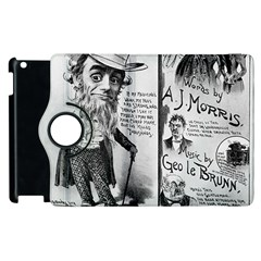 Vintage Song Sheet Lyrics Black White Typography Apple Ipad 3/4 Flip 360 Case by yoursparklingshop