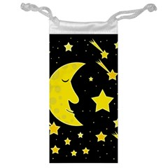 Sleeping Moon Jewelry Bags by Valentinaart