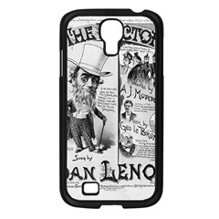 Vintage Song Sheet Lyrics Black White Typography Samsung Galaxy S4 I9500/ I9505 Case (black) by yoursparklingshop
