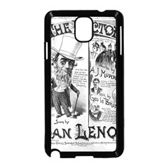 Vintage Song Sheet Lyrics Black White Typography Samsung Galaxy Note 3 Neo Hardshell Case (black) by yoursparklingshop