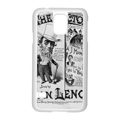 Vintage Song Sheet Lyrics Black White Typography Samsung Galaxy S5 Case (white) by yoursparklingshop