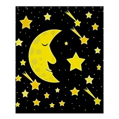 Sleeping Moon Shower Curtain 60  X 72  (medium)  by Valentinaart