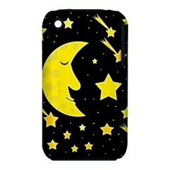Sleeping Moon Apple Iphone 3g/3gs Hardshell Case (pc+silicone) by Valentinaart