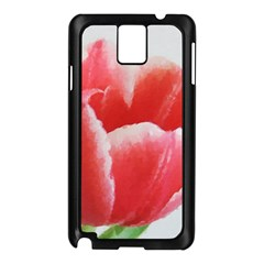 Tulip Red Watercolor Painting Samsung Galaxy Note 3 N9005 Case (black) by picsaspassion