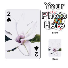White Magnolia Pencil Drawing Art Playing Cards 54 Designs  by picsaspassion