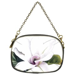 White Magnolia Pencil Drawing Art Chain Purses (two Sides)