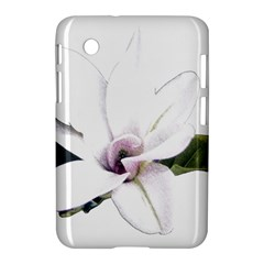 White Magnolia Pencil Drawing Art Samsung Galaxy Tab 2 (7 ) P3100 Hardshell Case  by picsaspassion