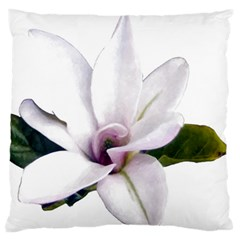 Magnolia Wit Aquarel Painting Art Standard Flano Cushion Case (one Side) by picsaspassion