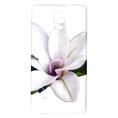 Magnolia Wit Aquarel Painting Art Galaxy Note 4 Back Case