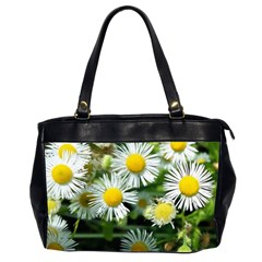 White Summer Flowers Oil Painting Art Office Handbags (2 Sides)  by picsaspassion