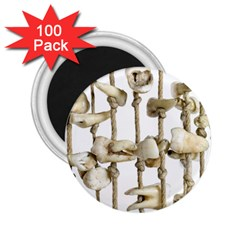 Hanging Human Teeth Dentist Funny Dream Catcher Dental 2 25  Magnets (100 Pack)  by yoursparklingshop