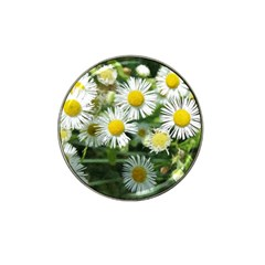 White Summer Flowers Watercolor Painting Art Hat Clip Ball Marker (10 Pack)