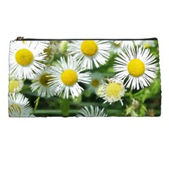 White Summer Flowers Watercolor Painting Art Pencil Cases by picsaspassion