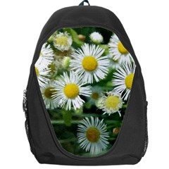 White Summer Flowers Watercolor Painting Art Backpack Bag by picsaspassion