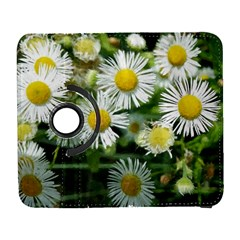 White Summer Flowers Watercolor Painting Art Samsung Galaxy S  Iii Flip 360 Case
