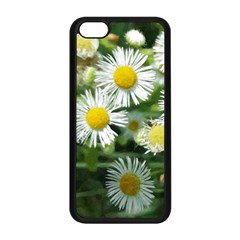 White Summer Flowers Watercolor Painting Art Apple Iphone 5c Seamless Case (black)