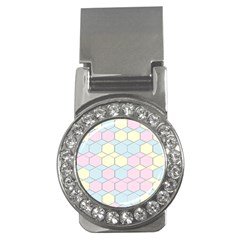 Colorful Honeycomb   Diamond Pattern Money Clips (cz)  by picsaspassion