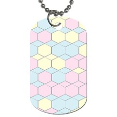 Colorful Honeycomb   Diamond Pattern Dog Tag (one Side) by picsaspassion