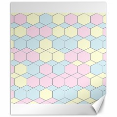 Colorful Honeycomb   Diamond Pattern Canvas 20  X 24   by picsaspassion