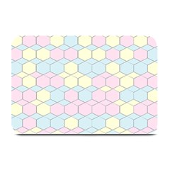 Colorful Honeycomb   Diamond Pattern Plate Mats by picsaspassion