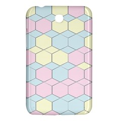 Colorful Honeycomb   Diamond Pattern Samsung Galaxy Tab 3 (7 ) P3200 Hardshell Case  by picsaspassion
