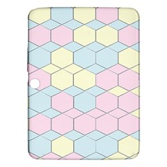 Colorful Honeycomb   Diamond Pattern Samsung Galaxy Tab 3 (10 1 ) P5200 Hardshell Case  by picsaspassion