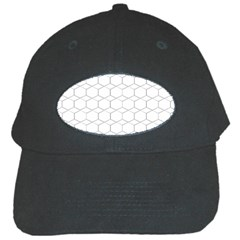 Honeycomb   Diamond Black And White Pattern Black Cap by picsaspassion