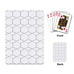 Honeycomb   Diamond Black And White Pattern Playing Card by picsaspassion