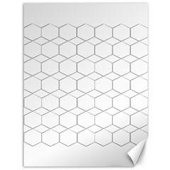 Honeycomb   Diamond Black And White Pattern Canvas 36  X 48