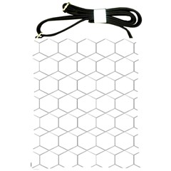 Honeycomb   Diamond Black And White Pattern Shoulder Sling Bags