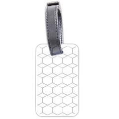 Honeycomb   Diamond Black And White Pattern Luggage Tags (one Side)  by picsaspassion