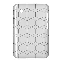 Honeycomb   Diamond Black And White Pattern Samsung Galaxy Tab 2 (7 ) P3100 Hardshell Case  by picsaspassion