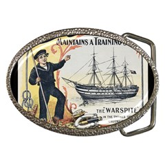 Vintage Advertisement British Navy Marine Typography Belt Buckles by yoursparklingshop
