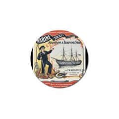 Vintage Advertisement British Navy Marine Typography Golf Ball Marker (10 Pack) by yoursparklingshop