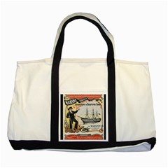 Vintage Advertisement British Navy Marine Typography Two Tone Tote Bag by yoursparklingshop