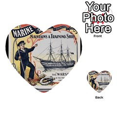Vintage Advertisement British Navy Marine Typography Multi Purpose Cards (heart)