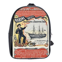 Vintage Advertisement British Navy Marine Typography School Bags(large)  by yoursparklingshop