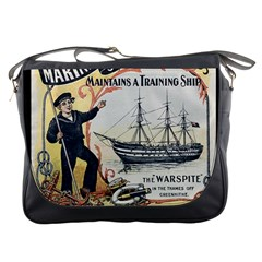Vintage Advertisement British Navy Marine Typography Messenger Bags by yoursparklingshop