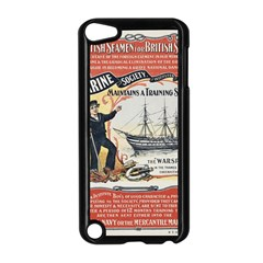 Vintage Advertisement British Navy Marine Typography Apple Ipod Touch 5 Case (black) by yoursparklingshop