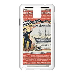 Vintage Advertisement British Navy Marine Typography Samsung Galaxy Note 3 N9005 Case (white) by yoursparklingshop