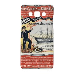 Vintage Advertisement British Navy Marine Typography Samsung Galaxy A5 Hardshell Case  by yoursparklingshop