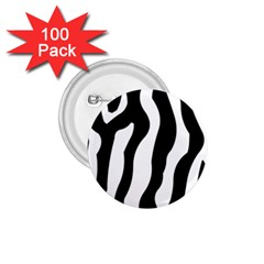 Zebra Horse Skin Pattern Black And White 1 75  Buttons (100 Pack)  by picsaspassion