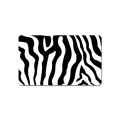 Zebra Horse Skin Pattern Black And White Magnet (name Card) by picsaspassion