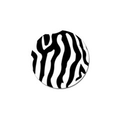 Zebra Horse Skin Pattern Black And White Golf Ball Marker (4 Pack) by picsaspassion