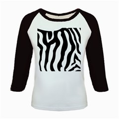 Zebra Horse Skin Pattern Black And White Kids Baseball Jerseys