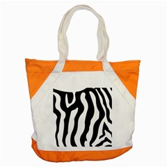 Zebra Horse Skin Pattern Black And White Accent Tote Bag by picsaspassion